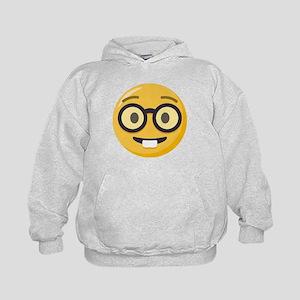 Nerd-face Emoji Kids Hoodie