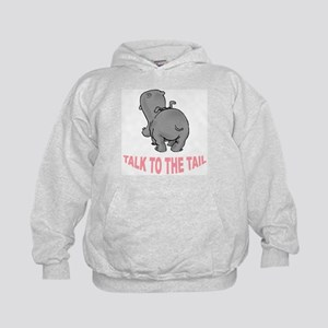 Hippo Talk To The Tail Kids Hoodie