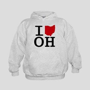 I Heart Ohio Kids Hoodie