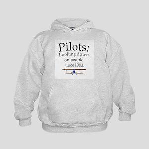 Pilots: Looking down on peopl Kids Hoodie