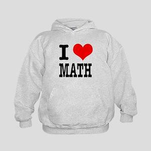 I Heart (Love) Math Kids Hoodie