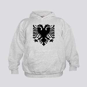 Albanian Eagle Emblem Kids Hoodie