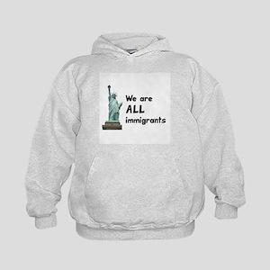 We're all immigrants Kids Hoodie