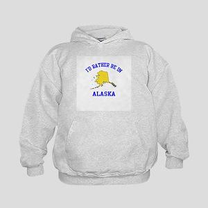I'd Rather Be in Alaska Kids Hoodie