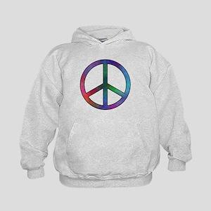 Multicolor Peace Sign Kids Hoodie