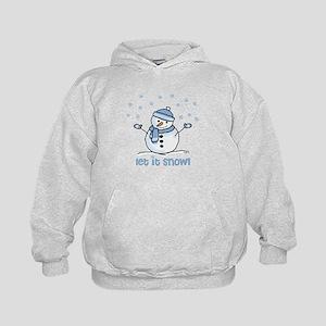 Let it snow snowman Kids Hoodie