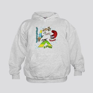 Four Agility Obstacles Kids Hoodie