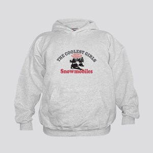 Coolest Girls Snowmobile Kids Hoodie