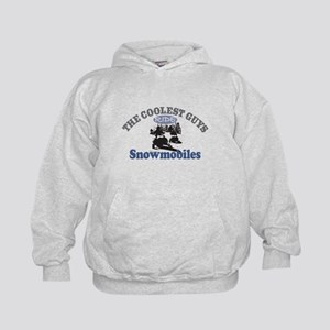 Coolest Guys Snowmobile Kids Hoodie