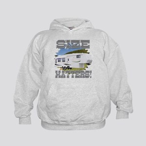 Size Matters Fifth Wheel Kids Hoodie