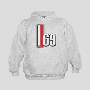 69 Red Whirte Kids Hoodie