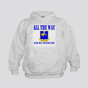 All The Way 5th Bn 502nd Inf Kids Hoodie