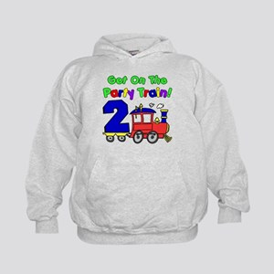Party Train Two Year Old Kids Hoodie