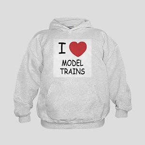 I heart model trains Kids Hoodie