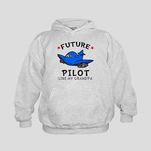 Pilot Like Grandpa Kids Hoodie