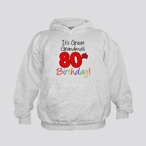 Great Grandma's 80th Birthday Kids Hoodie