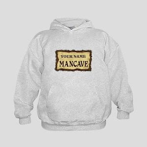 Mancave Sign Kids Hoodie