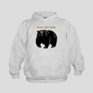 Big Bear with Custom Text. Kids Hoodie