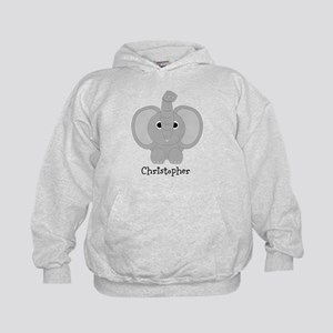 Personalized Elephant Design Kids Hoodie