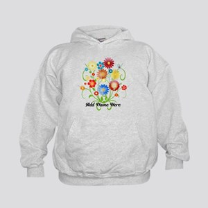 Personalized floral light Kids Hoodie