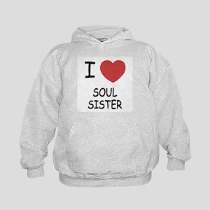 I heart soul sister Kids Hoodie