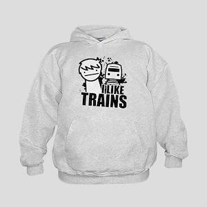 I Like Trains! Kids Hoodie