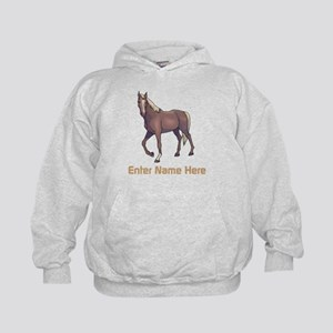 Personalized Horse Kids Hoodie