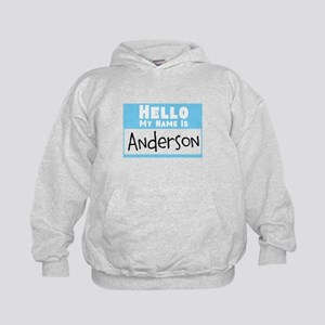 Personalized Name Tag Kids Hoodie