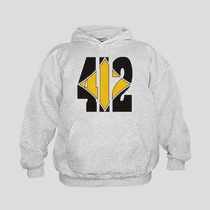 412 Black/Gold-W Kids Hoodie