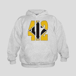 412 Gold/Black-W Kids Hoodie