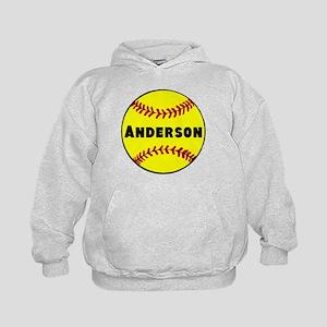 Personalized Softball Kids Hoodie