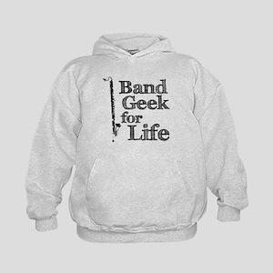 Bass Clarinet Band Geek Kids Hoodie