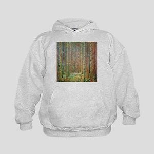 Gustav Klimt Pine Forest Kids Hoodie