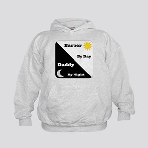 Barber by day Daddy by night Kids Hoodie