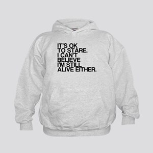 Old, OK To Stare, Funny Kids Hoodie