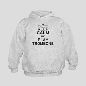 Keep Calm Play Trombone Kids Hoodie