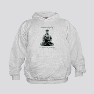 Buddha quote : Mind is Everything Kids Hoodie