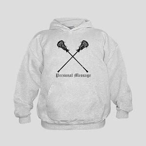 Personalized Lacrosse Sticks Kids Hoodie