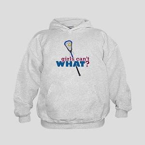 Lacrosse Stick Blue Kids Hoodie