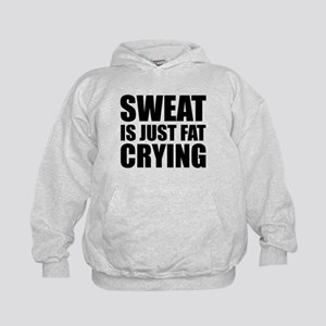 Sweat Is Just Fat Crying Kids Hoodie