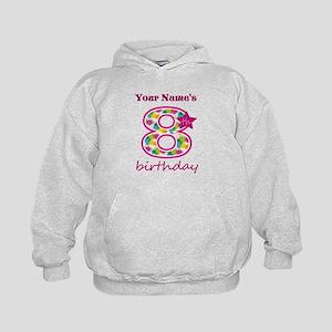 8th Birthday Splat - Personalized Kids Hoodie