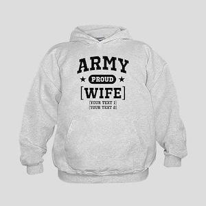 Army Wife/Aunt/Uncle Kids Hoodie