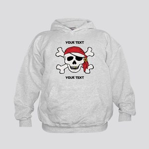 PERSONALIZE Funny Pirate Kids Hoodie