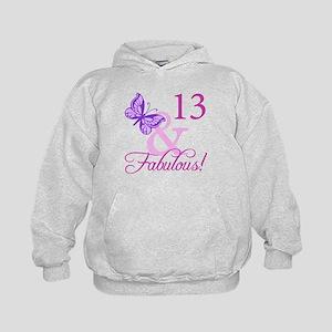 Fabulous 13th Birthday For Girls Kids Hoodie