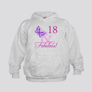 Fabulous 18th Birthday For Girls Kids Hoodie