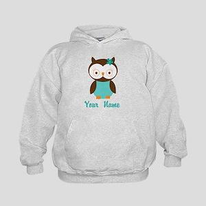Personalized Owl Kids Hoodie