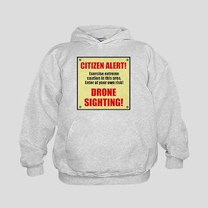 Citizen Alert! Drone Sighting! Kids Hoodie