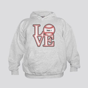 Personalized Front and Back Love Baseball Kids Hoo