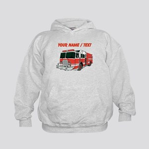 Custom Red Fire Truck Hoody
