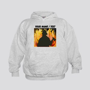 Custom Silhouetted Firefighter Hoody
